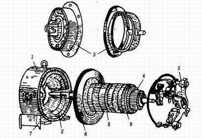 电动葫芦电机结构图